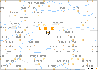 map of Girininkai