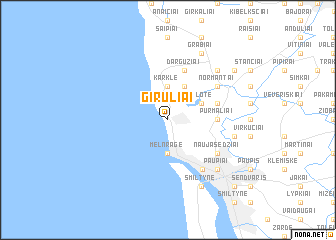 map of Giruliai