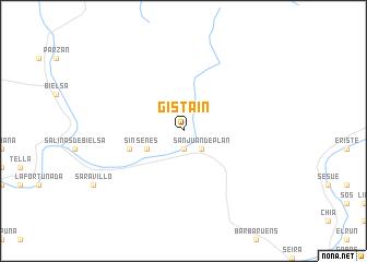 map of Gistaín