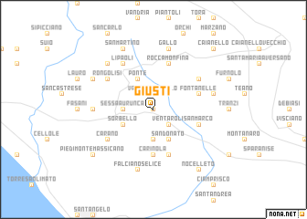 map of Giusti