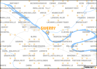 Giverny (France) map   nona.net