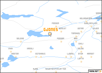 map of Gjønes