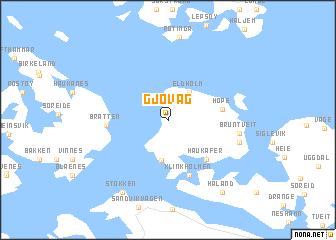 map of Gjøvåg