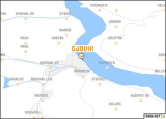 map of Gjøvik
