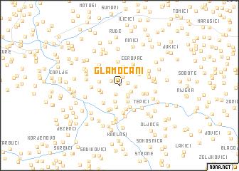 map of Glamočani