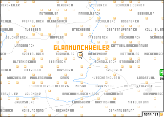 map of Glan-Münchweiler