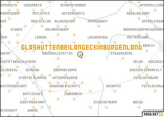 map of Glashütten bei Langeck im Burgenland