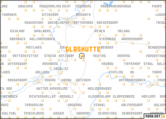 map of Glashütte