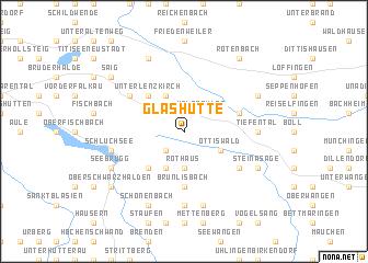 map of Glashütte