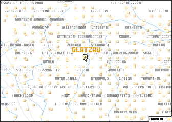 map of Glatzau