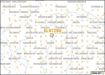 map of Glatzau