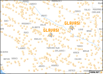 map of Glavaši