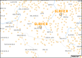 map of Glavica