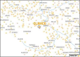 map of Glavice