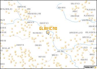 map of Glavično