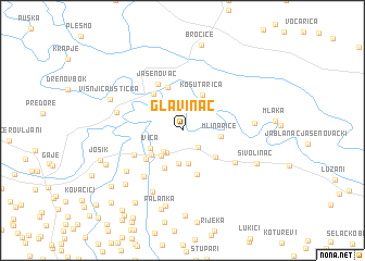 map of Glavinac