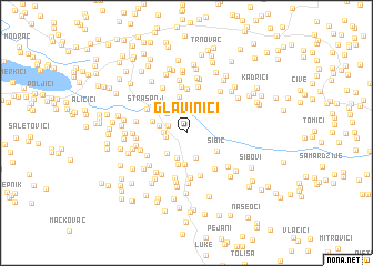 map of Glavinići
