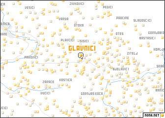 map of Glavnići