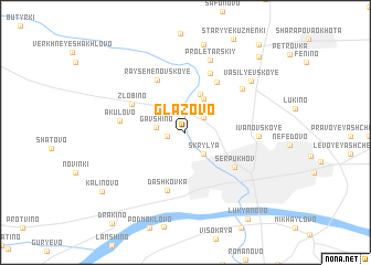map of Glazovo
