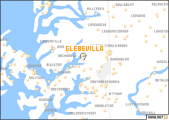 map of Glebe Villa