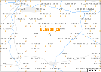 map of Głębowice