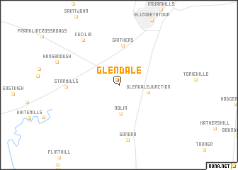 Glendale United States USA map nonanet