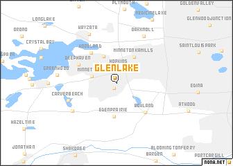 map of Glen Lake