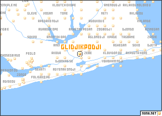 map of Glidji Kpodji