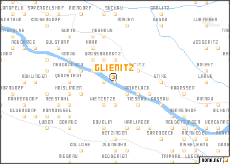 map of Glienitz