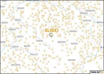 map of Gligići