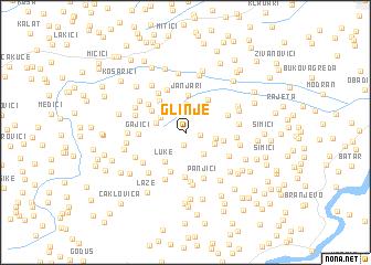 map of Glinje