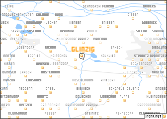 map of Glinzig