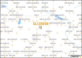 map of Gliznowo