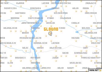 map of Głodno