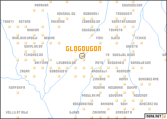 map of Glogougon