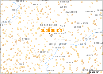 map of Glogovica