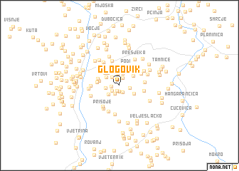 map of Glogovik