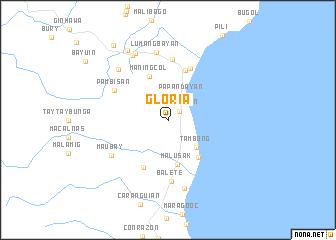 map of Gloria