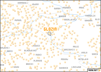 map of Glozin