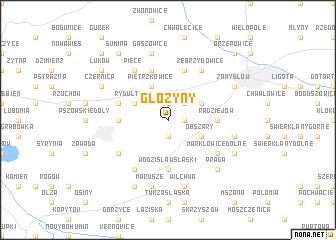 map of Głożyny