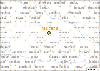 map of Głuchów