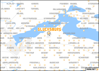 map of Glücksburg
