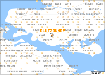 map of Glutzow Hof