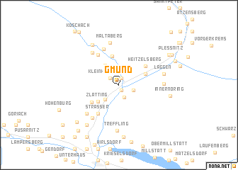 map of Gmünd