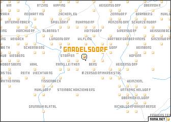 map of Gnadelsdorf