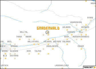 map of Gnadenwald