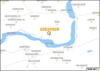 map of Gnevkovo