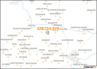 map of Gnezdilovo