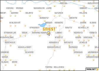 map of Gniest
