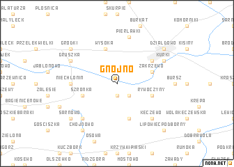 map of Gnojno